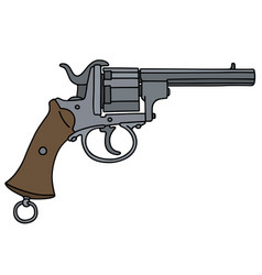vintage six bullets gun vector image