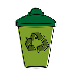 disposable cup recyclable icon image vector image vector image