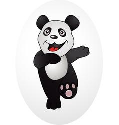 happy panda vector image vector image