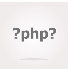 PHP sign icon Programming language symbol vector image