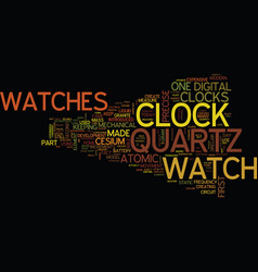 The modern watches and precise clocks part of vector