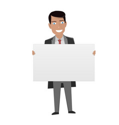 White board for business man in the suit holding vector