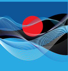 abstract landscape vector image vector image