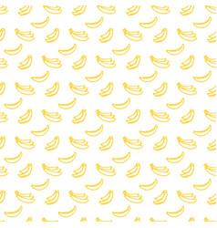 brush banana seamless pattern vector image vector image