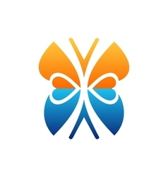 butterfly logo beauty lifestyle symbol icon design vector image