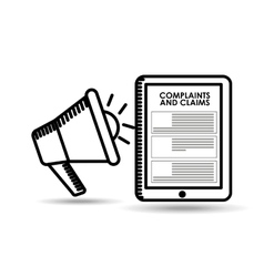 Complaints and claims design vector