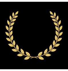 Gold laurel wreath 3 vector image