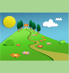 green country landscape vector image vector image