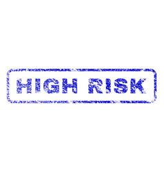 high risk rubber stamp vector image
