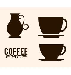 Kettle of coffee shop design vector