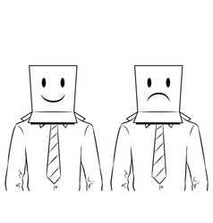 man with box on head coloring vector image vector image