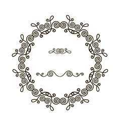 Round frame with pattern vector image