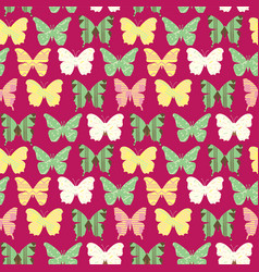 seamless pattern with colorful cute butterflies vector image vector image