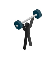 Weightlifting isometric 3d icon vector image