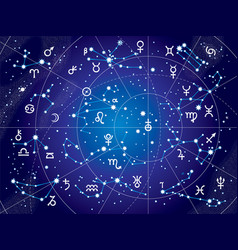 xii constellations of zodiac ultraviolet vector image