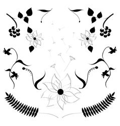 A Set of Flowers vector image