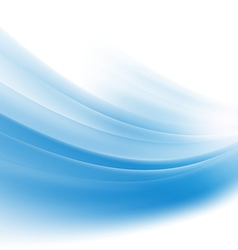abstract smooth blue wave background vector image vector image