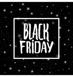 Black Friday promo banner background vector image