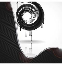 Black Paint Splashes Circle vector image