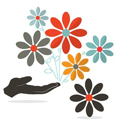 Flowers In Hand vector image vector image