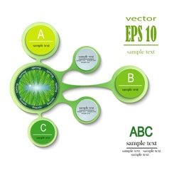 infographics spring ABC vector image