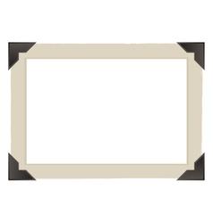 vintage photo frame design vector image vector image