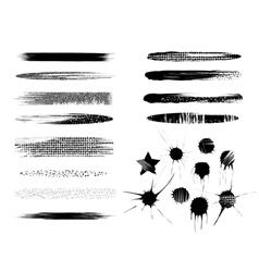 brush strokes elements vector image