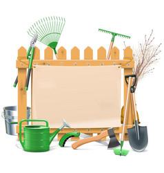Garden Board vector image vector image