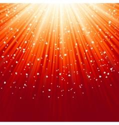light burst and stars vector image