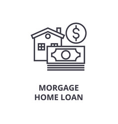 morgage home loan line icon outline sign linear vector image vector image