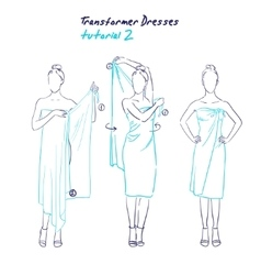 Transformer dresses women clothes and accessories vector image