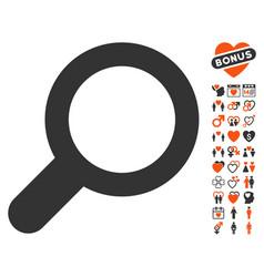 view icon with valentine bonus vector image vector image