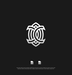abstract monogram logo design eps 10 vector image