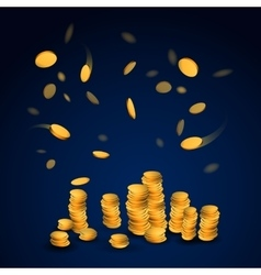 Abstract picture of gold coins vector image