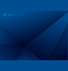 abstract template geometric triangles blue vector image