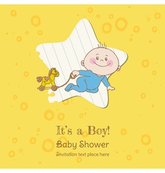 Baboy shower and arrival card vector