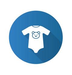 Baby bodysuit flat design long shadow glyph icon vector
