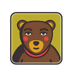 Bear face flat icon animal icons series bear vector