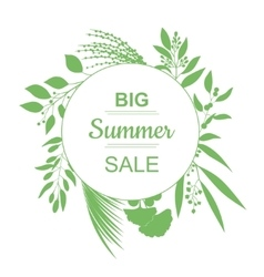Big Summer Sale Banner vector image