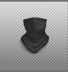 Black bandana mockup isolated on transparent vector