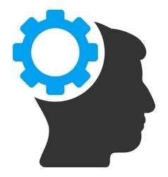 Brain Gear Flat Icon vector image