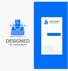 Business logo for article blog story typewriter vector