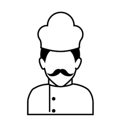 chef man silhouette vector image