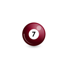 Chocolate billiard ball number 7 vector