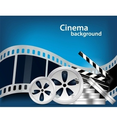 Cinema background vector image