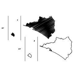 Colima map vector