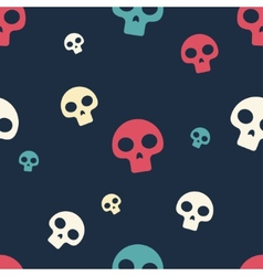 Colored Small Skull Pattern vector