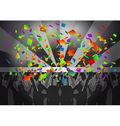 Crowd concert vector