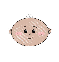 cute baby boy face with expression vector image