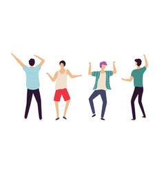 dancing people men in club dancers clubbing guys vector image